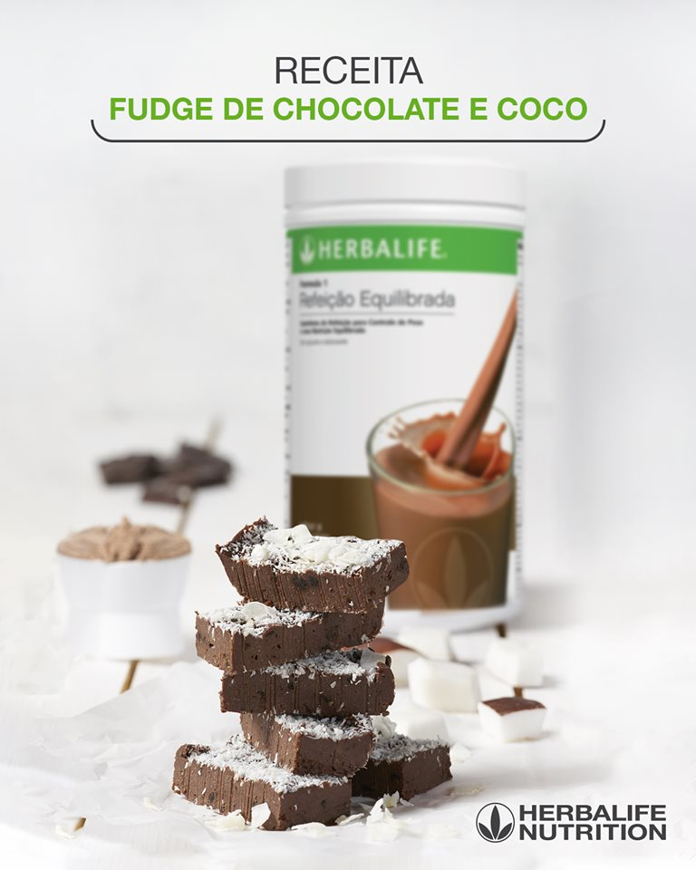 Receitas Herbalife Nutrition Fudge Chocolate Coco PortugalHerbal